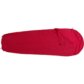 Basic Nature Mixed Sleeping Bag Liner Mummy Shape bordeaux